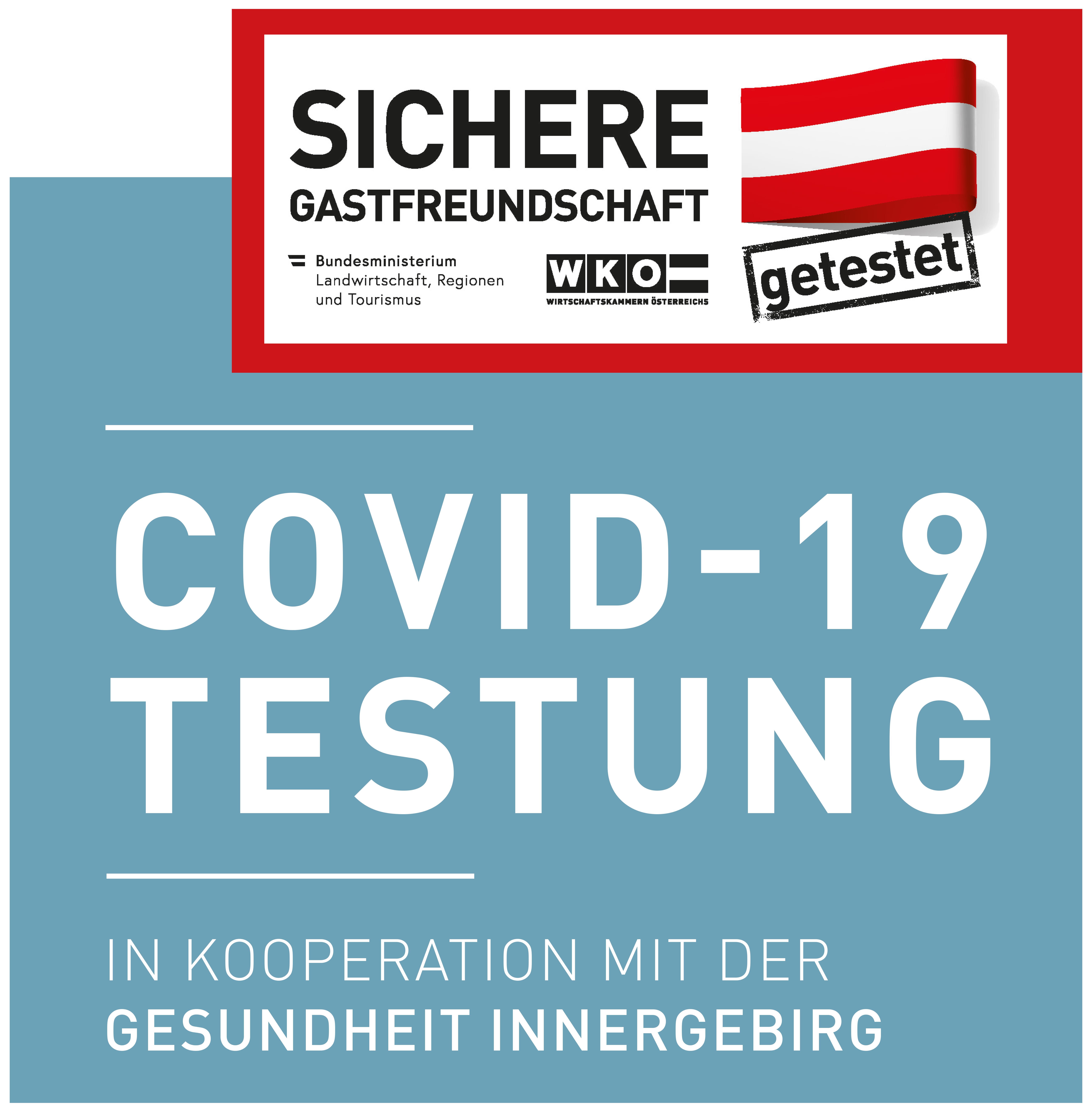 Covid-19 Test-Zertifikat für Mitarbeitertests - Sicheres Hotel - Saalbach
