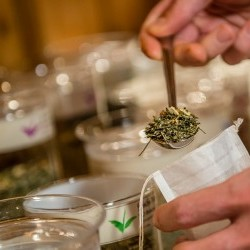 Tee zum selbst mischen Jeden Tag am Frühstücks-Buffet eine Auswahl an offenen Tees