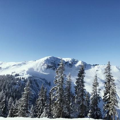 Atemberaubender Weitblick im Skigebiet