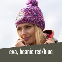 eva, beanie red/blue - 34,00 € warm and stylish hat