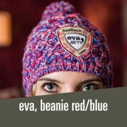 eva, beanie red/blue - 34,00 € cosy hat for winter