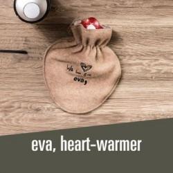 eva, hot water bootle warm feet, warm heart :)