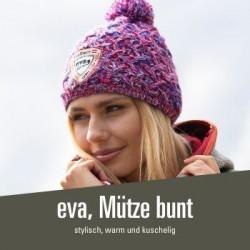 eva, Mütze bunt - 34,00 € kuschelige Mütze, Innenfutter Filz, super warm