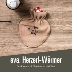 eva, Herzerl-Wärmer - 19,00 € Wärmflasche in grau und braun erhältlich